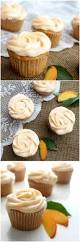brown butter peach cupcakes chocolate with grace
