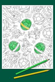 tmnt coloring page nickelodeon parents