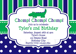 printable birthday invitations boys alligator