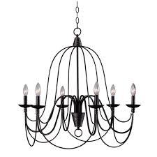 Big Iron Chandelier Kenroy Home 93066orb Pannier 6 Light Chandelier Blackened Oil