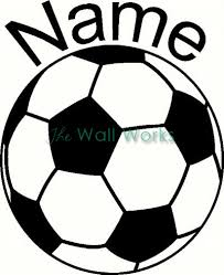 soccer with name wall sticker vinyl decal the wall works
