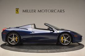 ferrari koenigsegg 2014 ferrari 458 spider stock 4348 for sale near greenwich ct