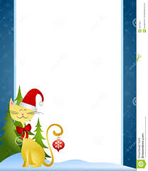 cartoon christmas cat border stock photography image 6927962