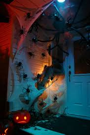 Scary Halloween House Decorations The Best 35 Front Door Decors For This Year U0027s Halloween
