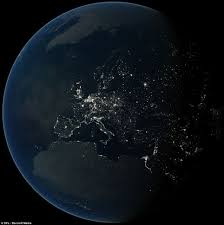 World At Night Map Revealed The Stunning Images Which Show How Europe Wastes Energy