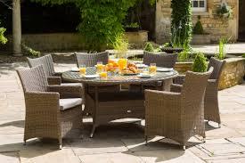 Garden Sofa Dining Set The Amber 6 Seater Round Luxury Garden Furniture Set Is Perfect