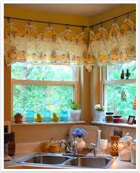 Blue Yellow Kitchen - lovely blue and yellow kitchen curtains and heartfelt swags navy