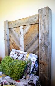 Barn Wood Headboard Remodelaholic Rustic Chevron Twin Headboard Building Plans