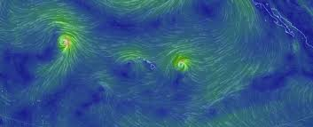 earth wind map this wind map explains everything about the storms hitting hawaii