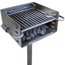 amazon com heavy duty park style charcoal grill industrial
