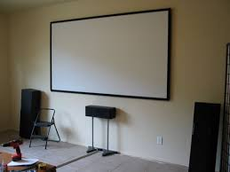 projector screen paint home theater diy projector screens