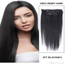 1 inch of hair 26 120g full head remy clip in human hair extension black brown