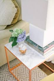 save this home decor diy to hack an ikea side table into a glam