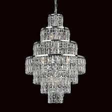 New Chandelier Impex New York Cascade 8 Light Glass Chandelier