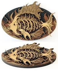 wood cutout sculptures by martin tomsky