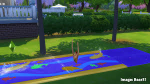 sims 4 backyard stuff water slide animations issue beta fix