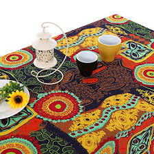 outdoor dining table cover bohemia mediterranean style tablecloths table cloth retro colorful