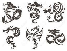 chinese dragon tattoo design dragon tattoo white background vector illustration vector chinese