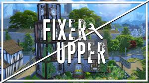 crumbling clock tower the sims 4 fixer upper home renovation
