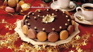 chocolate macaron cake with chocolate mousse filling u2013 dima al sharif