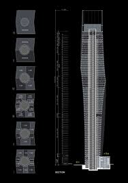 cayan tower floor plan cayan tower on architizer