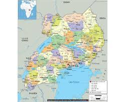 Map Of Equator Maps Of Uganda Detailed Map Of Uganda In English Tourist Map