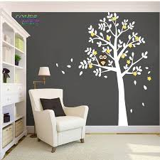aliexpress com buy huge white tree owl wall stickers xlarge size aliexpress com buy huge white tree owl wall stickers xlarge size decor vinyl decal removable nursery kids baby room decorative stickers 130x180cm from