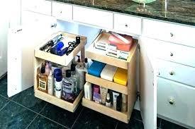 under bathroom sink organization ideas under cabinet organizers bathroom michaelfine me
