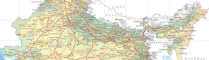Map Of India With States by Map Of India Railways You Can See A Map Of Many Places On The