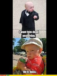 Godfather Baby Meme - baby godfather s evil henchman imgur