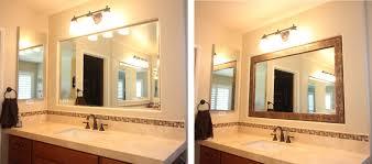 mirror frame kit photos of real customer installs mirrorchic com