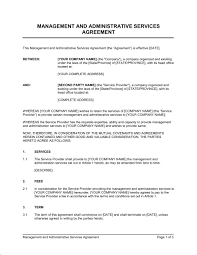 business management contract template management and