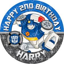 transformer cake toppers transformers rescue bots edible cake topper archives edible cake
