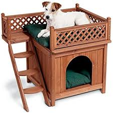 Cats In Dog Beds Amazon Com Merry Pet Mps002 Wood Room With A View Pet House