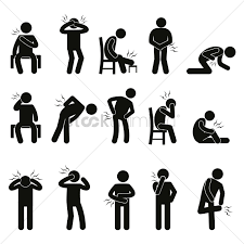 body ache pain people vector image 1527720 stockunlimited
