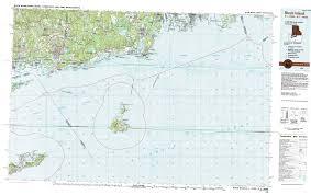 Block Island Map New York Topo Maps Topographic Maps 1 100 000