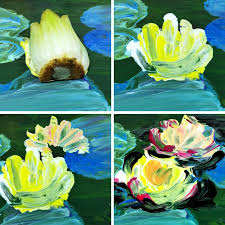finger painting with food inspired by monet u0027s water lilies woo
