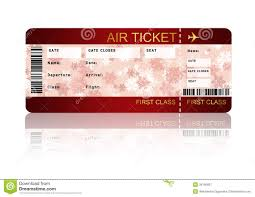 christmas airline boarding pass ticket isolated over white stock