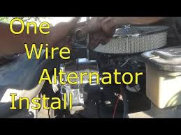 one wire alternator install youtube