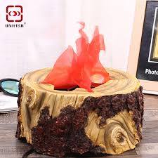 Flame Decorations Aliexpress Com Buy Unifish Fake Flame Lamp Stump Style