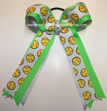 softball ribbon bulk softball bow green softball bow neon green softball ribbon