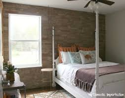 Accent Walls For Bedrooms Diy Faux Stone Wall Aka The Best Thing Ever Domestic Imperfection