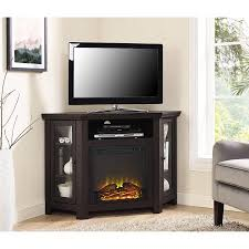 Fireplaces Tv Stands by Wood Corner Tv Fireplace Tv Stand For Tvs Up To 52
