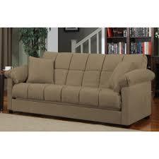 Microfiber Sleeper Sofa Mocha Full Size Sleeper Sofa Polyester Microfiber Material Block