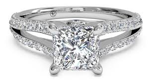 double engagement rings images Princess cut double band engagement ring ritani jpg