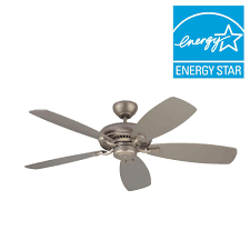 Craftmade Toscana Ceiling Fan Monte Carlo Designer Max 52 In Brushed Pewter Silver Ceiling Fan