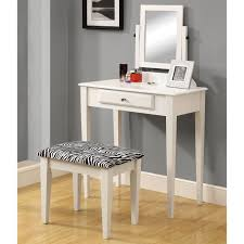 contemporary white bedroom vanity set table drawer bench monarch specialties i 3390 vanity set the mine