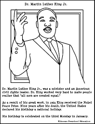 simple martin luther king jr coloring pages for coloring with