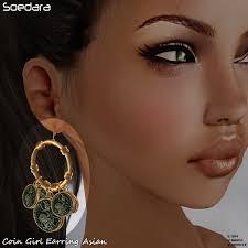 earring girl second marketplace soedara asian coin girl earring