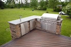 Outdoor Stainless Steel Kitchen - terrific deck plans with outdoor kitchen with stainless steel